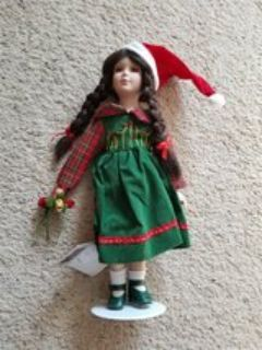 "12"" Rose Christmas Doll"