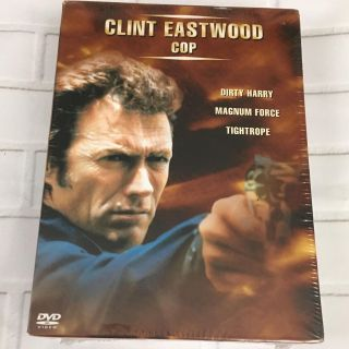 Set of Three Clint Eastwood movies on DVD new Dirty Harry Magnum Force Tightrope