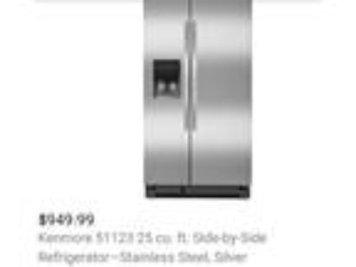 Kenmore refrigerator side by side