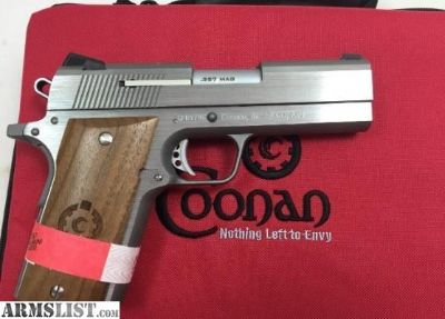 For Sale: COONAN COMPACT 1911 357 magnum Pistol stainless Free Shipping 100020-005 .357 mag 357