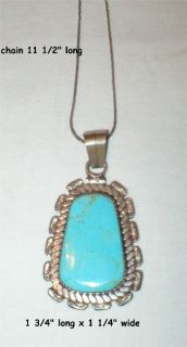 Turquoise Necklace - Native American Indian Hand Crafted