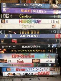 30 DVDs plus DVD player