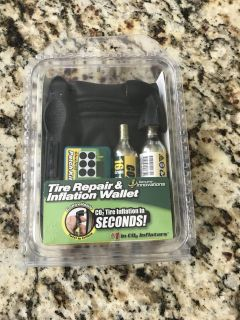 Brand new, tire repair & inflation wallet