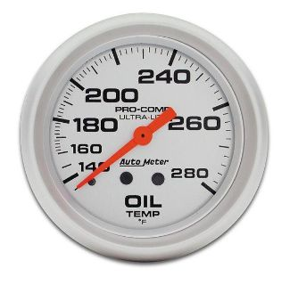 "Sell Auto Meter 4441 Ultra Lite 2 5/8"" Mechanical Oil Temperature Gauge 140-280 F motorcycle in Greenville, Wisconsin, US, for US $121.98"