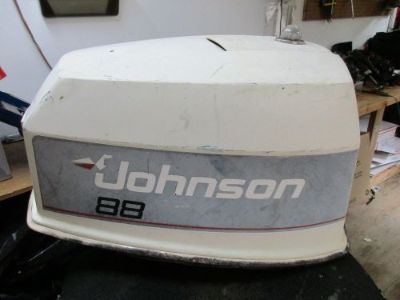 Purchase JOHNSON 88 HP SPL OUTBOARD TOP COWLING COVER HOOD V-4 motorcycle in Dunnellon, Florida, United States, for US $35.00