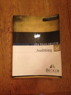 2013 Becker CPA Audit Review Version B