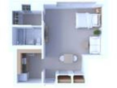 Oglesby Towers Apartments - Studio Floor Plan S1