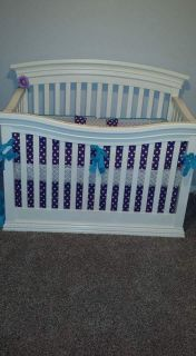 Baby bed and custom bedding