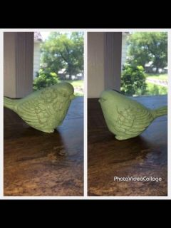 Sage Green Floral Bird Figurine /Shabby Chic/French Country/Farmhouse Decor/Tabletop Decor