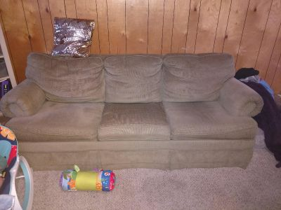 Pullout Sofa bed & matching love seat