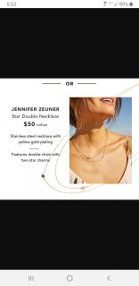 He infer Zeuner star double necklace