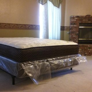 Queen Mattress With Boxspring ($8 Express Delivery!) *Frame Sold Separately