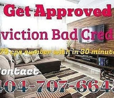 770-299-9853 $75 CPN NUMBER NUMBERS BAD CREDIT EVICTION SECOND CHANCE HOUSING NATIONWIDE