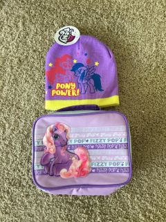 NET! MY LITTLE PONY HAT & INSULATED LUNCH BAG