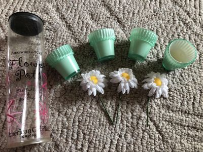 American girl doll ice cream cups and daisies