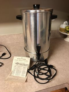Great for parties! 30 cup coffee maker.