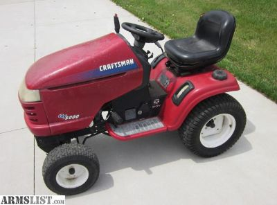 For Sale/Trade: Craftsman GT5000 Lawn Tractor, 22 hp V-Twin, 54 deck, parts or repair.