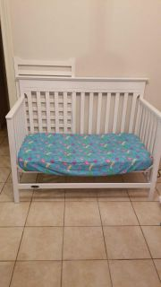 Graco crib TURNED into toddler bed