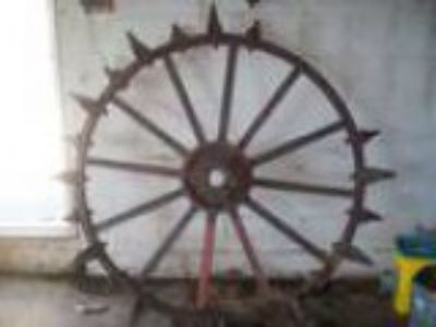 John Deere Steel Tractor Wheel w Old iron lugs (Plymouth IN