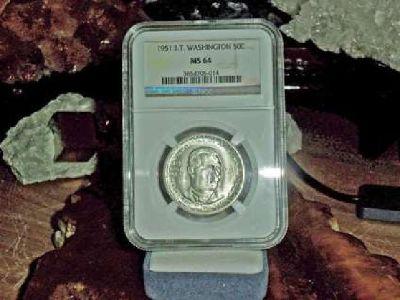Exceptional Booker T. Washington Commemorative Silver Half Dollar 1951-P