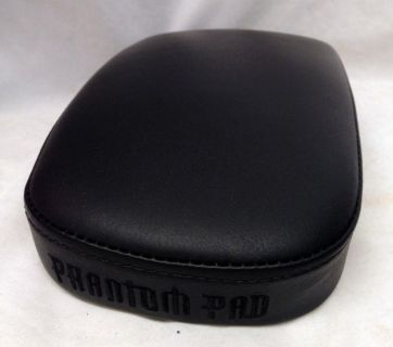 "Find Phantom Pads Small Plain Black Leather Seat 6"" Wide P-Pads Specter motorcycle in Venice, Florida, US, for US $19.99"