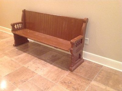 $125, Old church pew