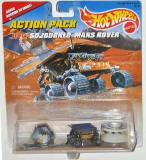 NEW Vintage 1996 Hot Wheels Action Pack JPL Sojourner Mars Rover Mission Pathfinder & Lander
