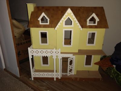 Doll house and misc furniture