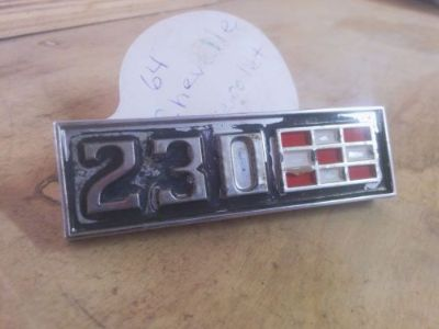 Sell 64 65 1964 1965 CHEVELLE MALIBU EL CAMINO NOVA IMPALA 230 FENDER EMBLEM 3846080 motorcycle in Corning, California, United States, for US $65.00