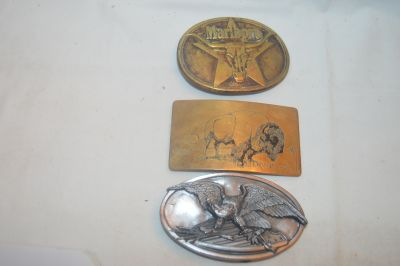 3 Older Belt Buckles