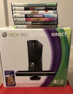 Xbox 360 Kinect 4GB + 7 Games