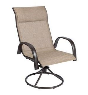 BRAND NEW Swivel Rocker Outdoor CHAIR seating patio deck porch BEIGE BROWN ~ high quality & elegant