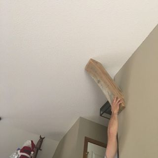 Pair of solid wood just finished cornice decor- pair for $5, need them gone- PRICE FIRM