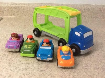 Little People cars and car hauler . See additional pics.