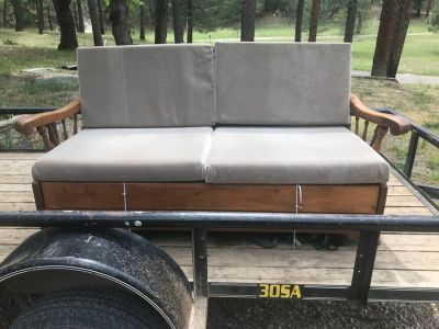 Antique couch with hide-a-bed