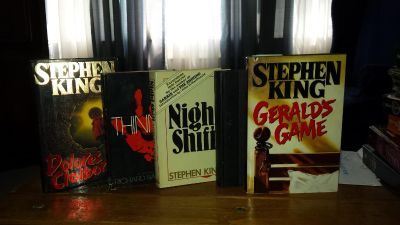 5- Hardcovered Books by Stephen King