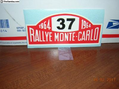 Rallye Monte-carlo Window Sticker