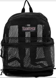 New mesh and clear backpacks