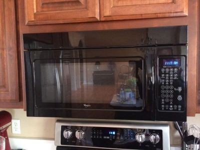 Whirlpool Black Over-the-Stove Microwave