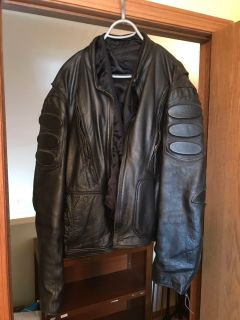 XXL Men s Leather Motorcycle Jacket