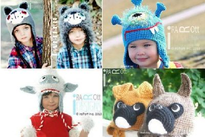 Handmade Crochet Animal Hats for all ages and Crochet Patterns