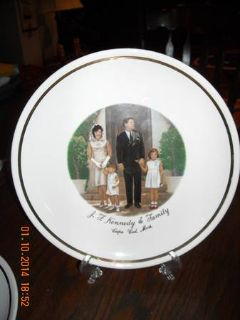 John F. Kennedy Collector Plate wFree Gift (Tyler)