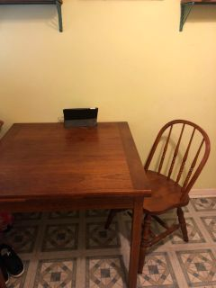 Kitchen or dining room table with four chairs
