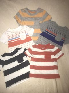 VGUC Lot of 5 Cherokee brand size 12 month pocket tees