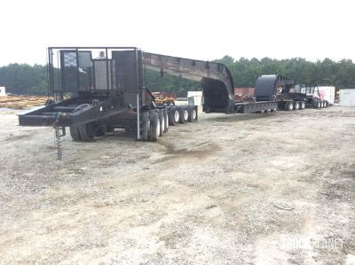1990 Talbert T4/6-JW Heavy Haul Trailer w/1994 Peterbilt 379 T/A Pusher Truck