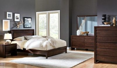 SALE! M. INTERNATIONAL LUXURIOUS SOLID HEAVY WOOD QUEEN BED SET!