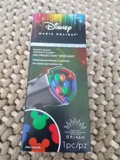 New Disney Mickey Mouse Fantastic Flurry LED Projection Spotlight Indoor/Outdoor
