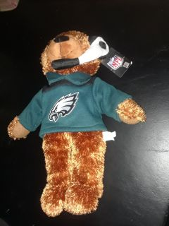 """Small Eagles Plush Bear. About 10"""" long. With tag. GUC."""