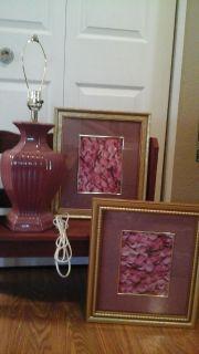 Rose Petals Framed Pictures & Matching Lamp ALL FOR $3