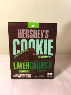 Hersheys cookie layer crunch candy bars, mint